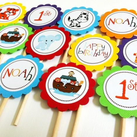 Noah's Ark Cupcake Toppers c