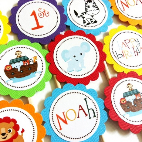 Noah's Ark Cupcake Toppers