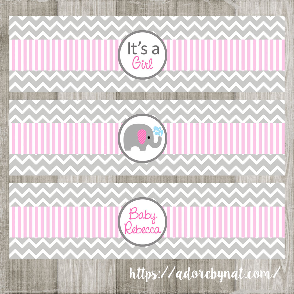 Baby Shower Water Bottle Labels Free