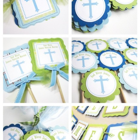 Baptism Communion Decoration for Boy