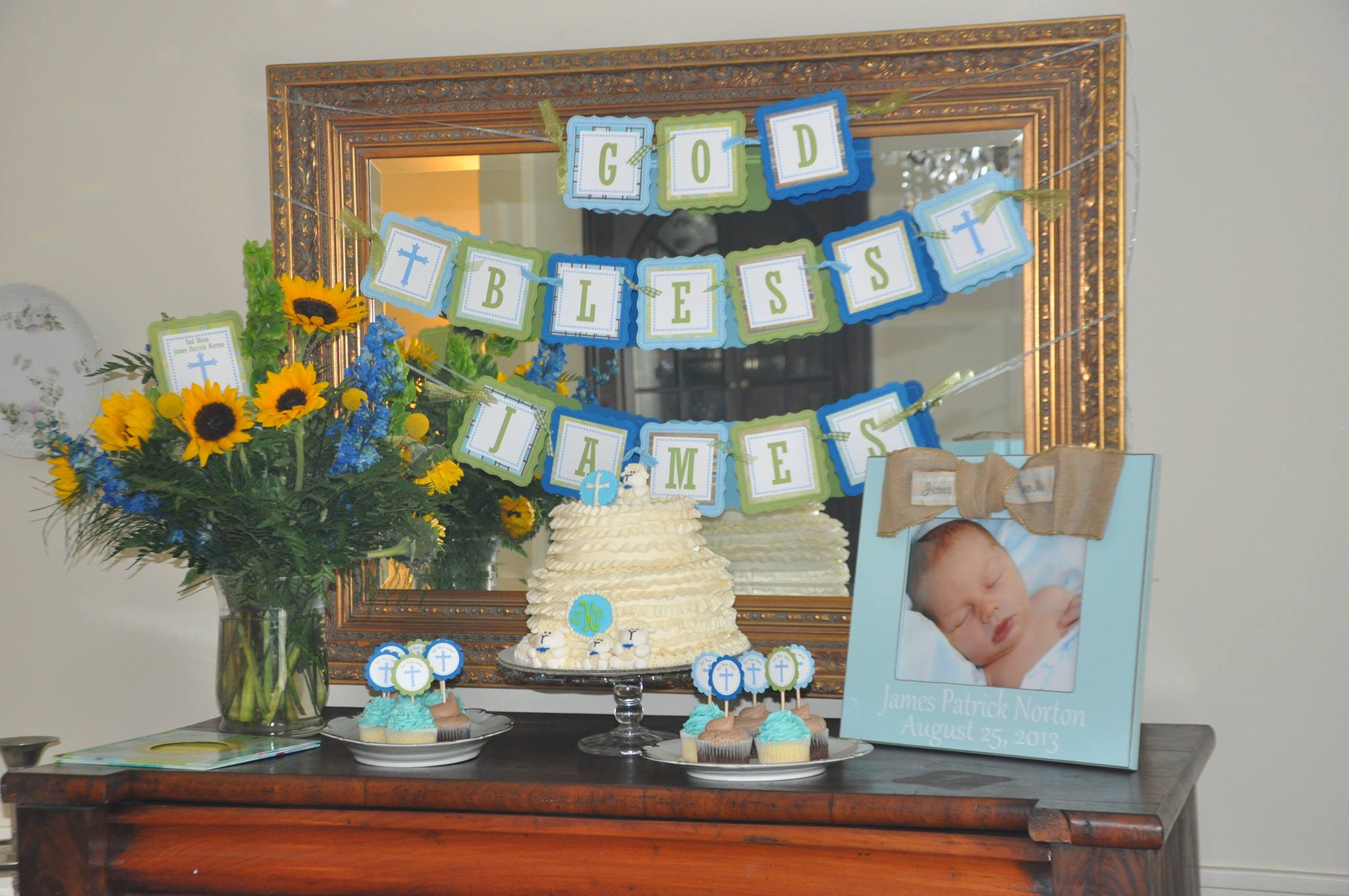Cross Door Sign for Baptism Christening First munion
