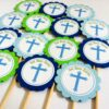 Cross Holy Communion Cupcake Toppers