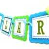 Monster Party Banner, Favor Tags and Stickers
