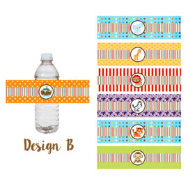 Noah's Ark Rainbow Water Bottle Labels