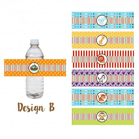 Noah's Ark Water Bottle Labels Design B