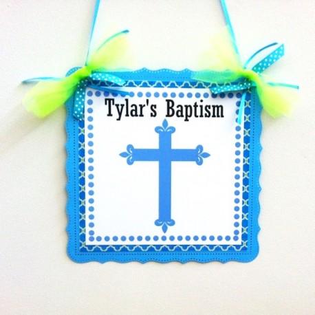 Baptism Door Sign a