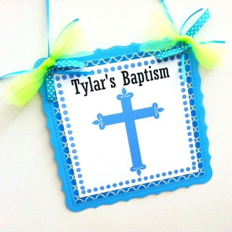 Baptism Door Sign