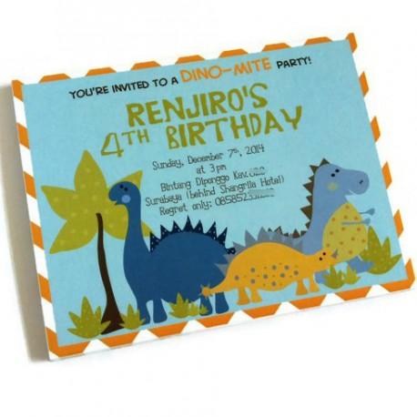 Dinosaur Party Invitations a