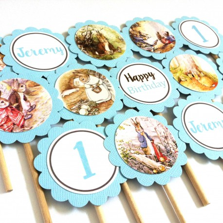 Peter Rabbit Cupcake Toppers b