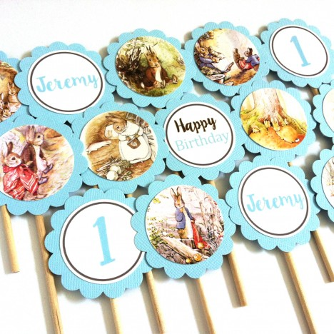 Peter Rabbit Cupcake ToppersPeter Rabbit Cupcake Toppers