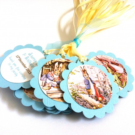 Peter Rabbit Favor Tags in Blue c