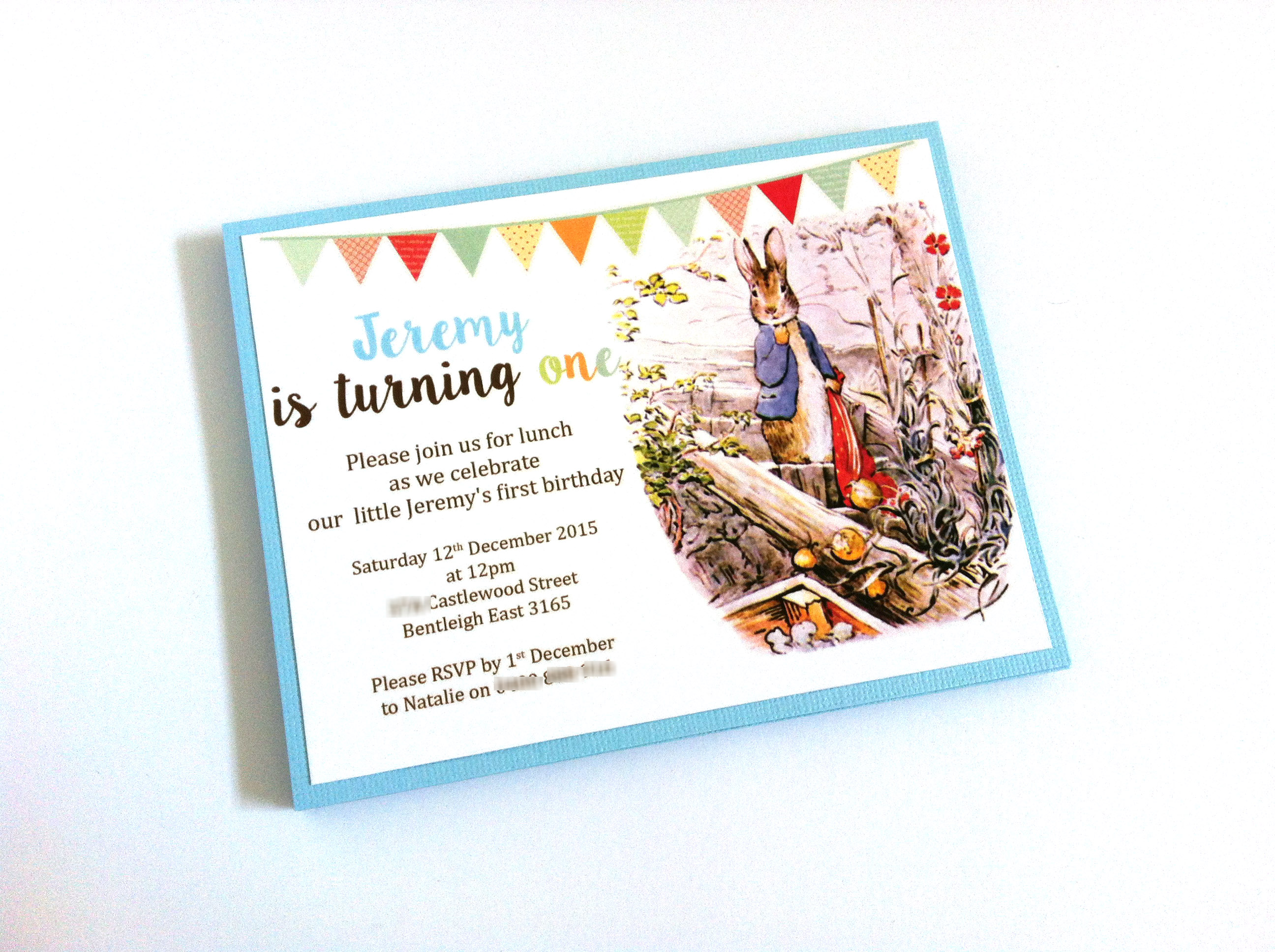 Peter Rabbit Invitations For Baby Shower And Birthday Adore By Nat