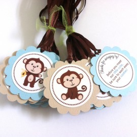 Monkey Favor Tags