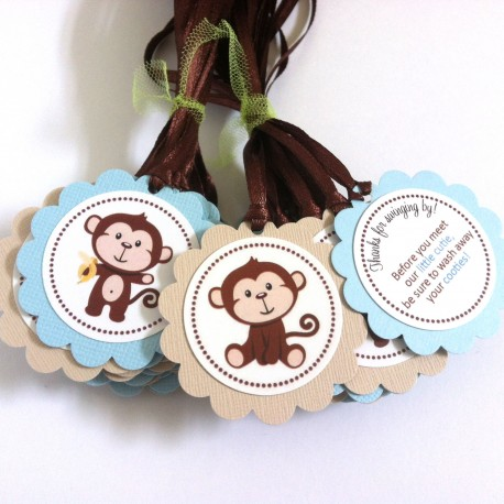Monkey Favor Tags b