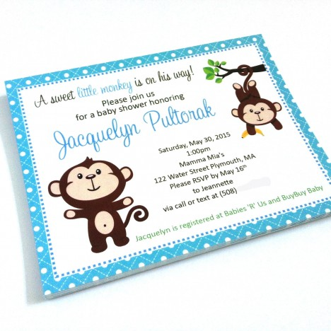 Monkey Party Invitations