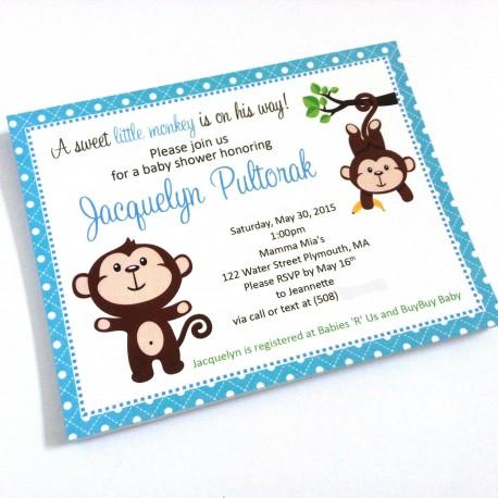 Monkey Party Invitations c
