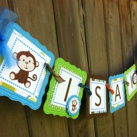 Personalized Monkey Banner