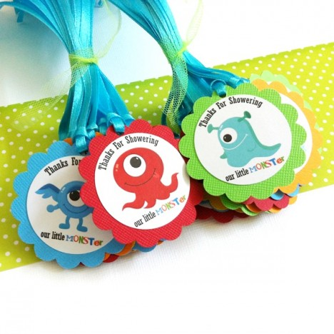 Monster Favor Tags