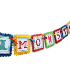 Welcome Little Monster Banner