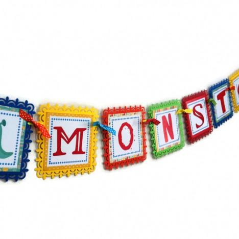 Welcome Little Monster Banner