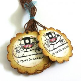 Fairytales Do Come True Wedding Favor Tags