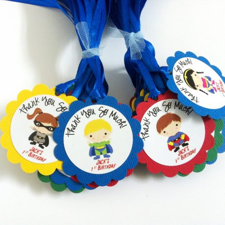 Superhero Party Favor Tags