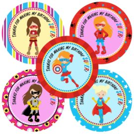 Superhero Girl Stickers