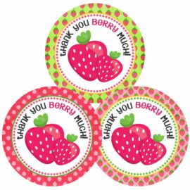 Strawberry Thank You Stickers