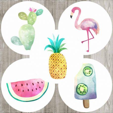 Tropical Sticker Labels a