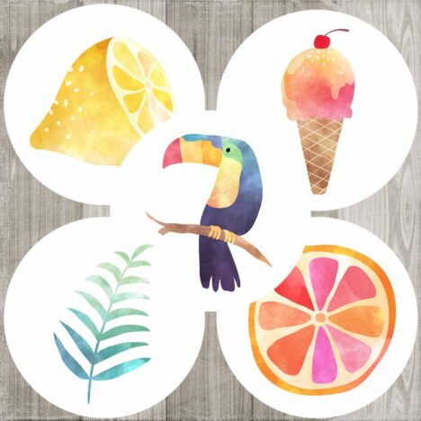 Tropical Sticker Labels