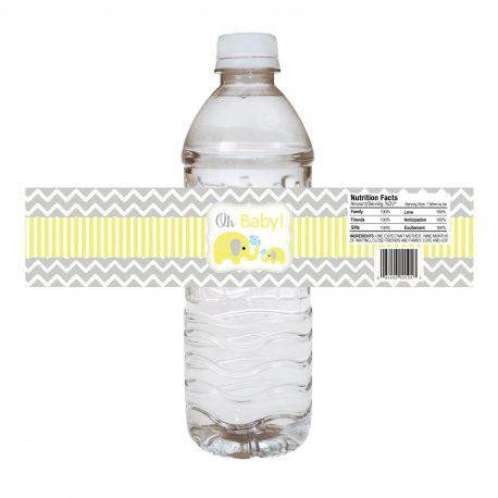 Water Bottle Elephant – Yellow