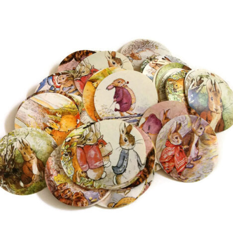 Yellow Thanks for Showering Elephant Favor Tags