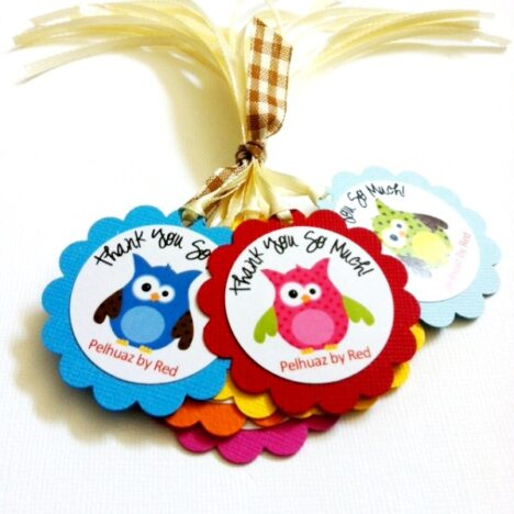 Personalized Owl Thank You Tags
