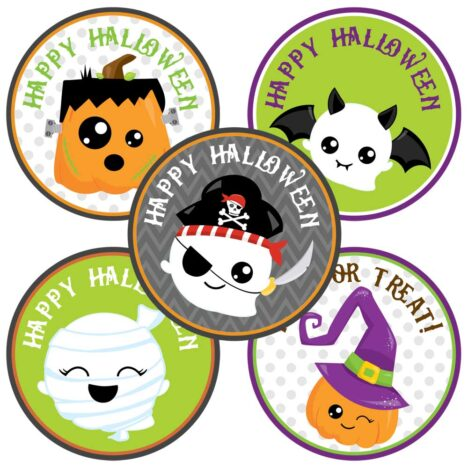 Halloween Sticker Labels