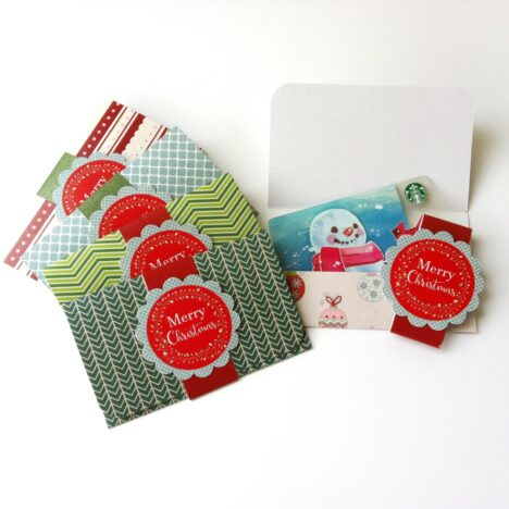 Christmas Holiday Gift Card Holders