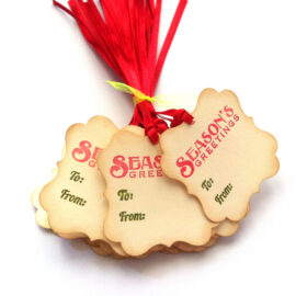 Season's Greetings Christmas Holiday Gift Tags