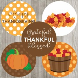 Thanksgiving Sticker Labels