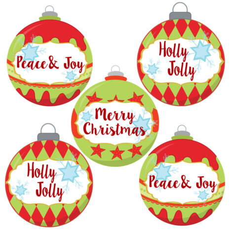 Christmas Ornament Stickers