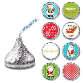 Santa Claus Label for HERSHEY'S KISSES® chocolates