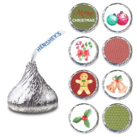 Merry Christmas Label for HERSHEY'S KISSES® chocolates