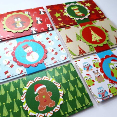 Kids Christmas Holiday Gift Card or Money Holders