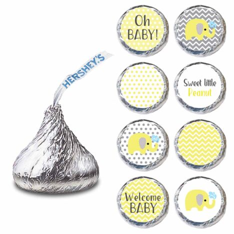 Yellow Elephant Label for HERSHEY'S KISSES