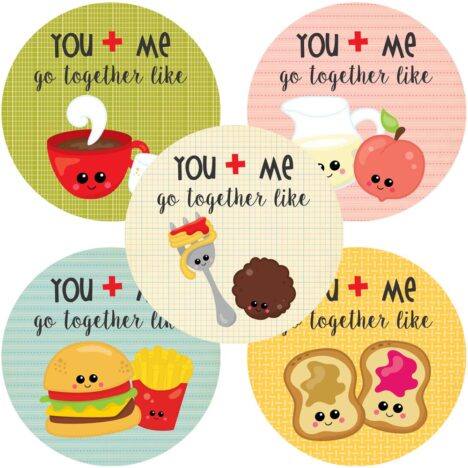 You and Me Go Together Like Love Stickers