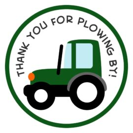 Tractor Thank You Stickers