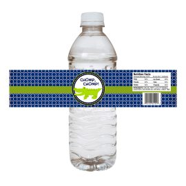 Alligator Water Bottle Label