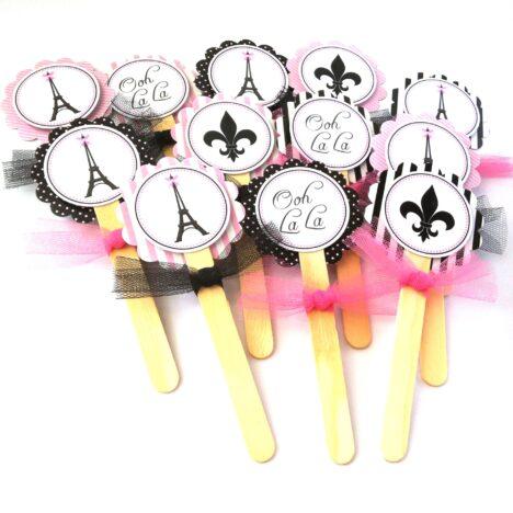 Paris Cupcake Toppers