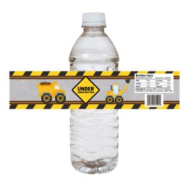 Under Construction Water Bottle Labels