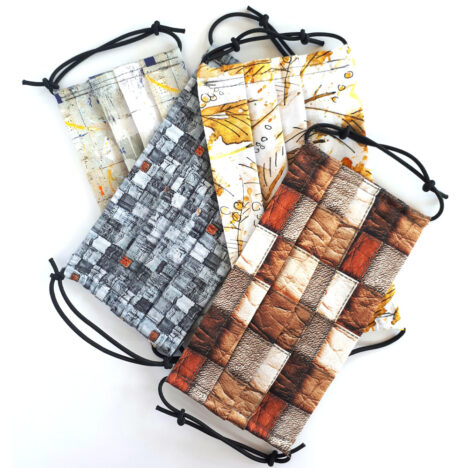 Cotton Facemask with Filter Pocket - Set of 4